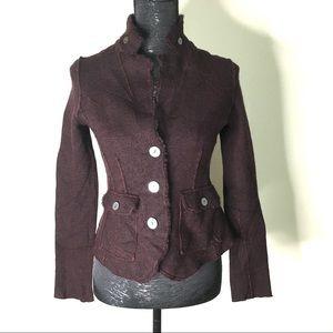 Eileen Fisher Wool Fray Hem Blazer Coat